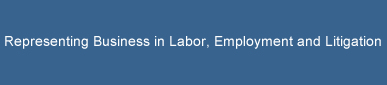Representing Business in Labor, Employment and Litigation